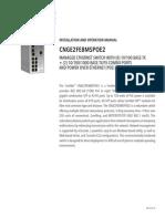 ComNet CNGE2FE8MSPOE2 Instruction Manual