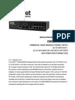 ComNet CWGE2FE8MSPOE Instruction Manual