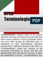SPED Terminologies