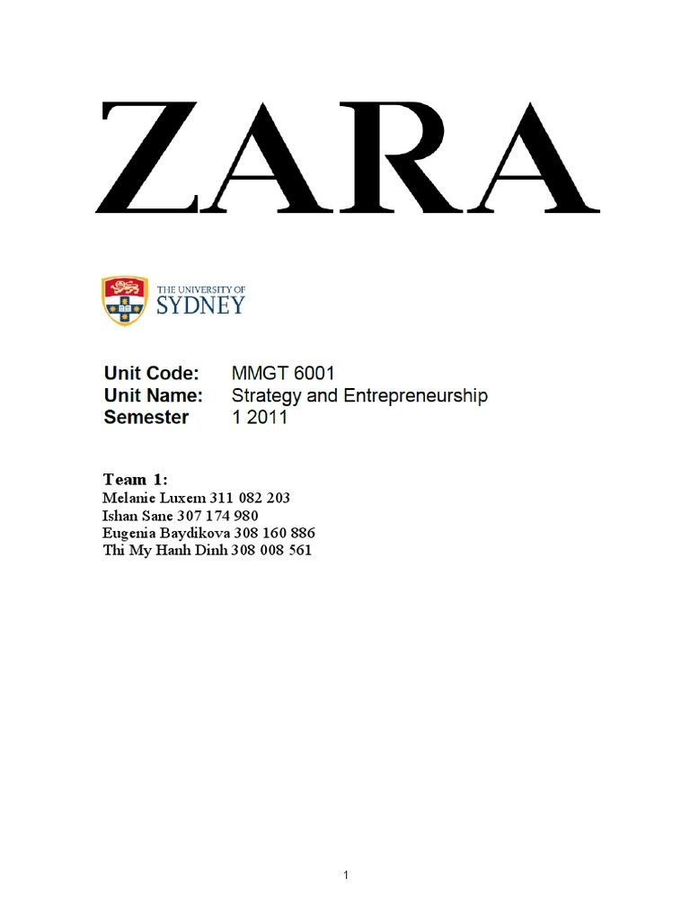zara strategy report strategic management competitive advantage