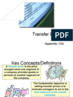 Transfer Pricing and FS Analysis