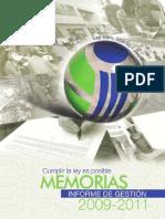 Memoria Pro Consumidor 2011