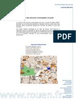 """Communiqu"""" de presse de la mairie de Rouen sur la réouverture des douches municipales"""