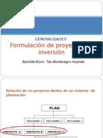 Formalizacion de Proyectos de Inversión.