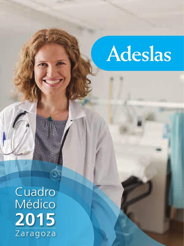 Cuadro Medico Adeslas Zaragoza 2015