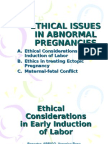 Ethics in Abnormal Pregnancies