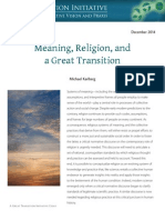 Meaning Religion and a Great Transition
