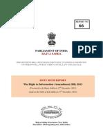 SC Report -RTI (a) Bill