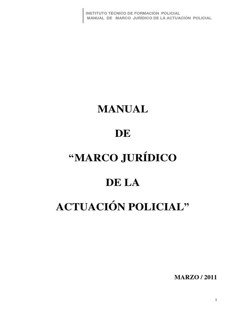 Manual Marco Juridico de La Actuacion Policial
