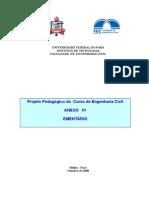 EMENTÁRIO ENG. CIVIL UFPA