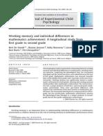 DeSmedt_Workingmemory in Maths