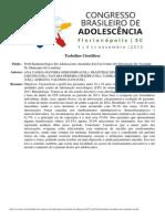 0177 Perfil Epidemiologico de Adolescentes Atendidos Em