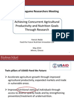 Incorporating Nutrition into Feed the Future Research Programs