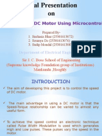 Speed Control of DC Motor using Microcontroller