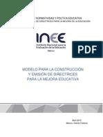 Modelo para la construcción y Emision Directrices