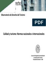 Calidad y Turismo Normas Nacionales e Internacionales