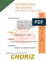 Elaboracion Del Chorizo Informe