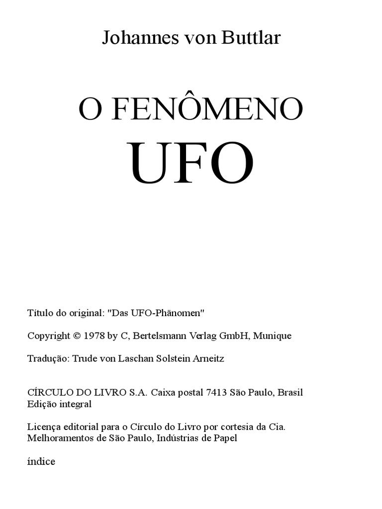 O fenomeno ufo johannes von buttlar fandeluxe Image collections