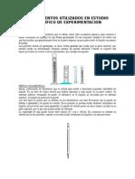 Instrumentos Utilizados en Estudio Cientifico de Experimentacion