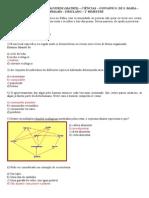 Turma 601 Simulado de Ciências 1º Bimestre (Matriz)