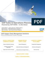SAP Sales and Operations Planning