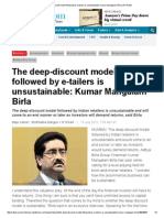 The Deep-discount Model Followed by E-tailers is Unsustainable_ Kumar Mangalam Birla _ ET Retail