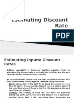 Estimating Discount Rate