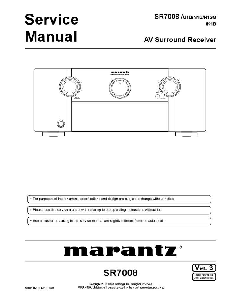 Marantz Sr7008pdf Hdmi Electrical Connector Bmw L6 M6 Troubleshooting And 87car Wiring Diagram