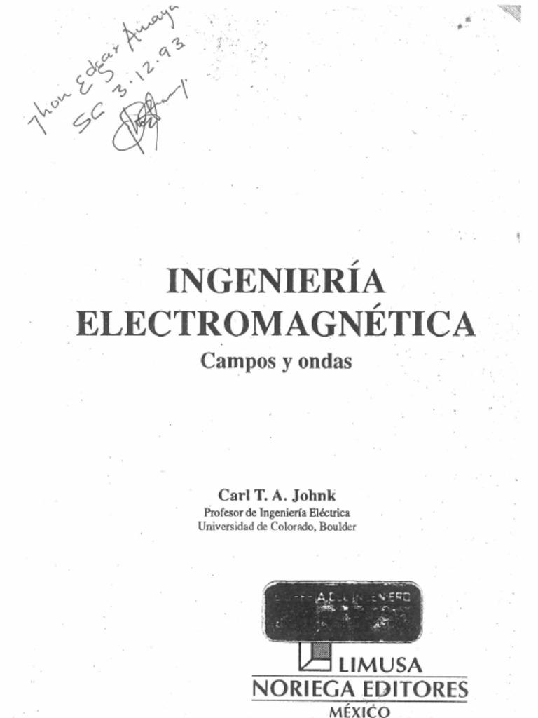 solucionario teoria electromagnetica johnk