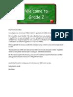 grade 2 intro letter