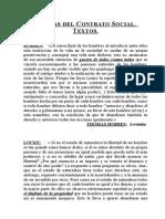Teorías Del Contrato Social. Textos