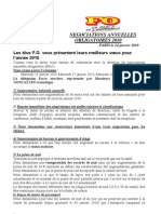 Revendications FO NAO Méridien Montparnasse
