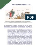 Das vierfache Ackerfeld - Anm. zu Markus 4, 1 - 20