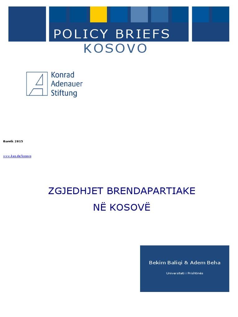 Zgjedhjet Brendapartiake ne Kosove