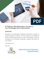 El Sistema Microfinanciero Peruano