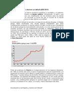 Default de Otros Paises y Evolucion de La Deuda en Venezuela