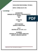 Trabjo Betti JMANEJOS DE RESIDUOS CONTAMINANTES