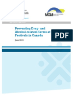 CCSA Preventing Alcohol Drug Harms at Music Festivals Summary 2015