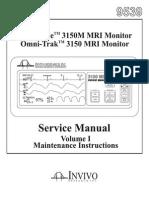 Invivo 3150 MRI Monitor - Service Manual