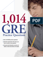 18241588 1014 GRE Practice Questions by the Princeton Review Excerpt