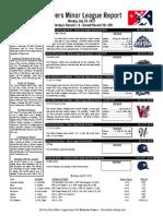 Minor League Report 15.07.20