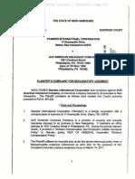 STANDEX INTERNATIONAL CORPORATION v. ACE AMERICAN INSURANCE COMPANY complaint