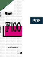 Nikon F100 Manual - English