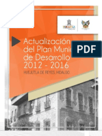 Actualizacion Plan de Desarrollo Municipal Huejutla 2012 2016
