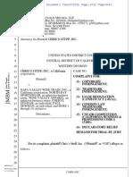 Chris's Stuff v. Napa Valley Wine Train - copyright trademark complaint.pdf