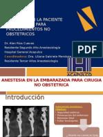 Anestesia Paciente Embarazada Cirugia No Obstetrica