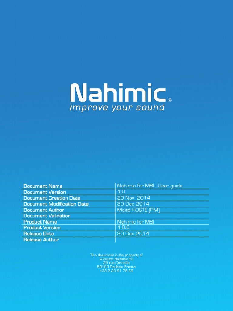 Nahimic MSI UserGuide | Sound Recording And Reproduction | Icon