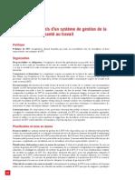 Eléments essentiels d'un système de gestion de la sécurité et de la santé au travail