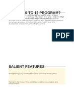 What is k to 12 Program