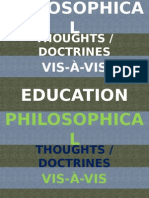Philosophical Thoughts Vis Avis Education